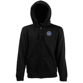 FBI Federal Bureau Investigation Embroidered Logo - Zipped Hoodie Jacket