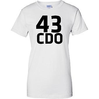 Licensed MOD -  Royal Marines 43 Cdo - Text - Ladies T Shirt