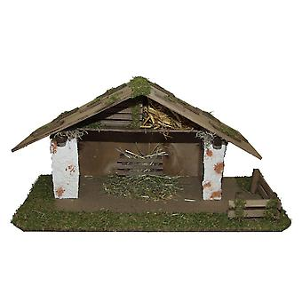 Crib Nativity scene wood Nativity stable SILAS hand work for characters up to 10 cm