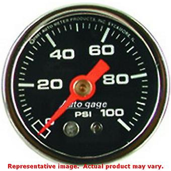 Auto Meter manometer Direct Mount 2174 Dial Zwart / Chrome Case 1-1/2 in Ra