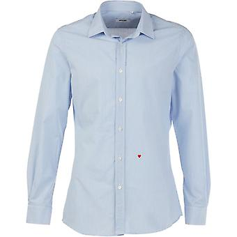 Moschino R701X1 65302 02 Blue / White Pinstripe Casual Shirt