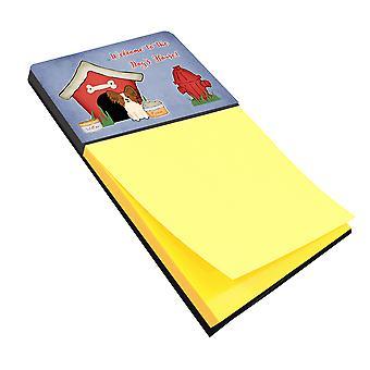 Dog House Collection Papillon Red White Sticky Note Holder