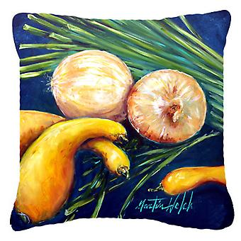 Crooked Neck Squash Canvas Fabric Decorative Pillow
