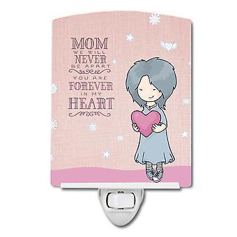 Carolines Treasures  BB5415CNL Mom Forever in My Heart Ceramic Night Light