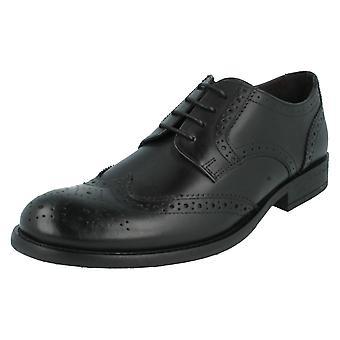 Mens Base London Brogue Shoes Oak MTO