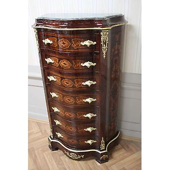 Chest of drawers baroque cabinet Louis xv antique style MkSm0036Gn