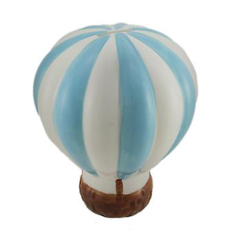 Baby Blue e White Hot Air Balloon ceramica moneta bancaria