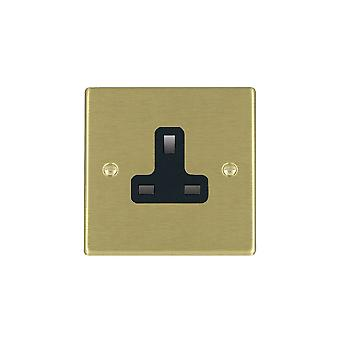 Hamilton Litestat Hartland Satin messing 1g 13A Unswitched Socket BL