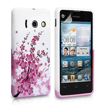 Yousave accessoires Huawei Ascend Y300 Bee Floral Gel sillicone