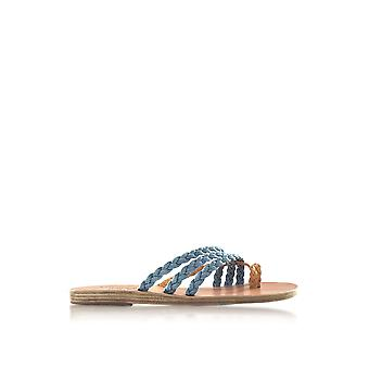 Ancient Greek Sandals ladies AMALIADENIM Blau denim sandals