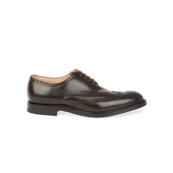 Church's men's MUNICHCAPITALEBONY Braun leather lace-up shoes