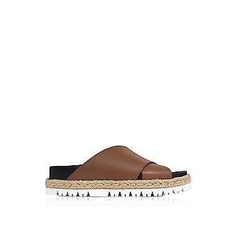 Marni women's FBMSW06GO3LV69100M29 brown leather sandals