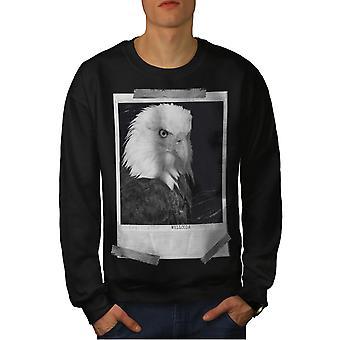 Bald Eagle Men BlackSweatshirt | Wellcoda