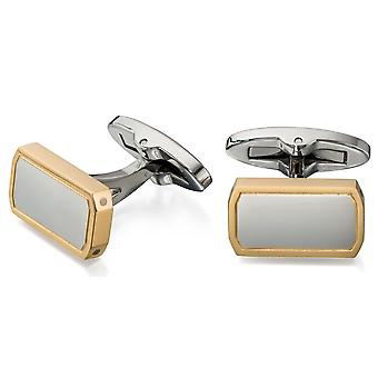 Stainless Steel Gold Plated Fashionable Cufflink
