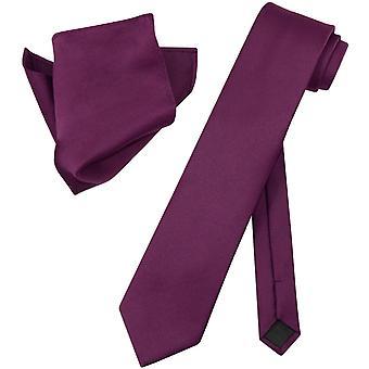 Vesuvio Napoli EXTRA LONG NeckTie Handkerchief Neck Tie Set