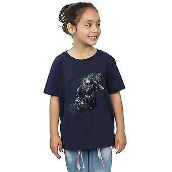 Marvel Girls Black Panther Wild Silhouette T-Shirt