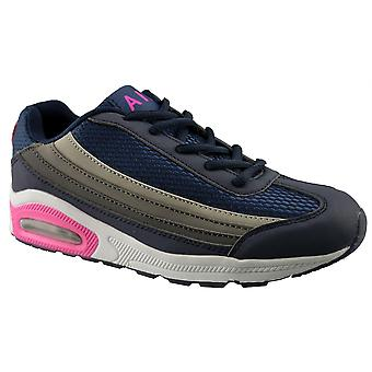 Ladies Womens New Lace Up Casual Gym Running Jogger Trainers Shoes