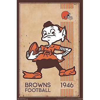 Cleveland Browns - Retro Logo 14 Poster Print