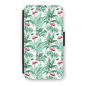 Samsung Galaxy S6 Edge Flip Case - Flamingo bladeren