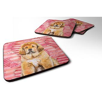 Set of 4 Tibetan Mastiff Love Foam Coasters Set of 4