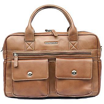 Leather Briefcase Business Bag Messenger Laptop And Tablet Pockets Case Shoulder