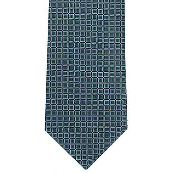 Michelsons of London Classic Grid Polyester Tie - Green
