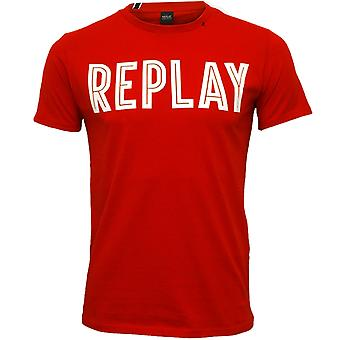Replay Bold Logo T-Shirt, Red