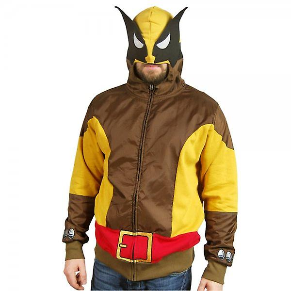 Marvel Comics Mens marron Wolf Wolverine Costume Hoodie
