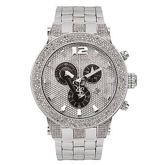 Joe Rodeo diamond men's watch - BROADWAY Silver 5 ctw