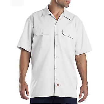 Dickies Short Sleeve Work Shirt - White Dickies1574WH Mens Classic Work Shirt