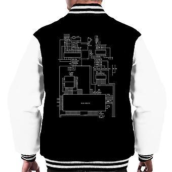 Sega Genesis Computer Schematic Men's Varsity Jacket
