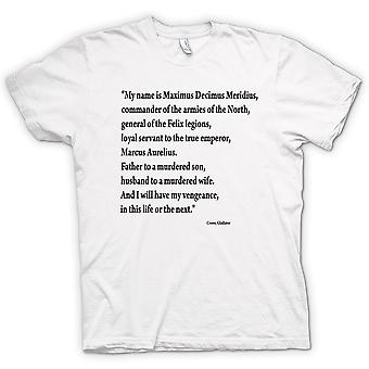 Womens T-shirt - Gladiator - Quote - Russell Crowe