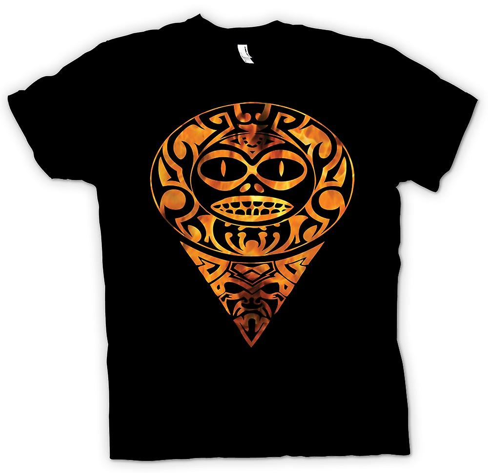 Kids T-shirt - Aztec Tattoo Flames - Tribal