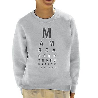 Mambo Eye Test Kid's Sweatshirt