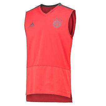 2018-2019 Bayern Munique Adidas camisa sem mangas (vermelho)