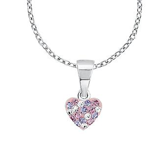 Princess Lillifee child kids necklace silver heart crystals 2013171