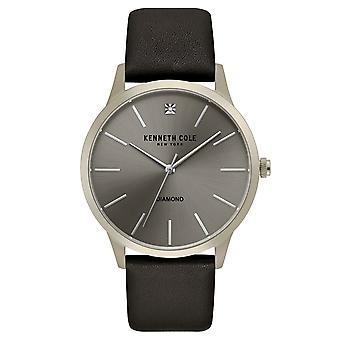 Kenneth Cole New York men's wrist watch analog quartz leather KC15111010