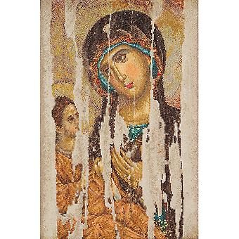 Icon Mother Of God On Aida Counted Cross Stitch Kit-8.75