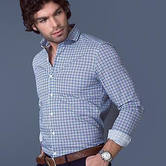 Fabio Giovanni Piccolo Shirt - Mens High Quality Italian Poplin Cotton with Soft Cutaway Collar Shirt