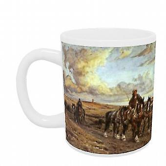 The Plough Team by Joseph Harold Swanwick - Mug (11oz Ceramic)
