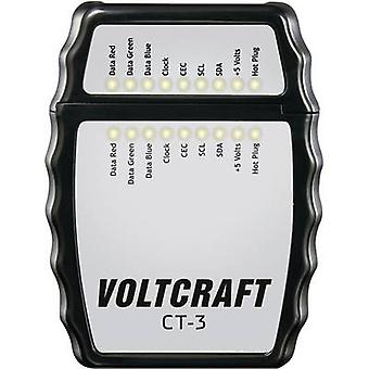 VOLTCRAFT CT-3 Cable tester Suitable for HDMI cable type A,