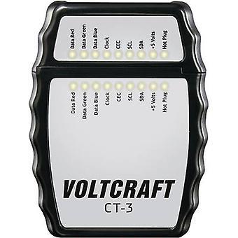 VOLTCRAFT CT-3 Kabeltestare lämplig för HDMI-kabel typ A,