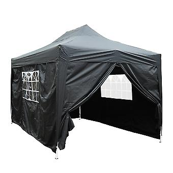Outsunny 3 x 4.5 m Pop Up Gazebo Marquee Water Resistant Party Tent Canopy Plus Free Storage Bag - Black