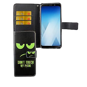 Mobile phone case pouch for mobile Samsung Galaxy A8 2018 dont touch my phone Green