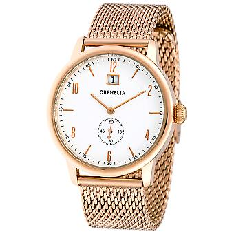 ORPHELIA Mens Analogue Watch Vintage Rose Gold Stainless steel 122-9706-17