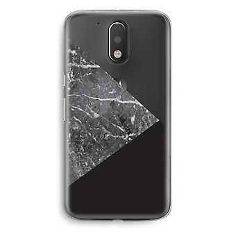Motorola Moto G4/G4 Plus Transparent Case - Marble combination