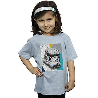 Star Wars Girls Stormtrooper Pattern Helmet T-Shirt