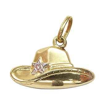 Suspensión del sombrero sheriff oro