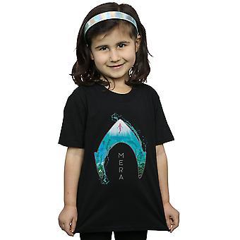 DC Comics meisjes Aquaman Mera Oceaan Logo T-Shirt