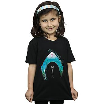 DC Comics Girls Aquaman Mera Ocean Logo T-Shirt